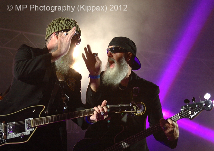 The ZZ Tops; Back Street Heroes Tent: Farmyard Party 2012
